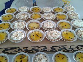 Tortinhas de limão e maracujá