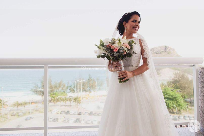 Buquê de noiva Assimétrico