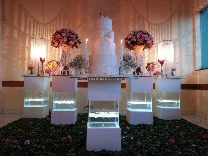 Mesa de bolo agua