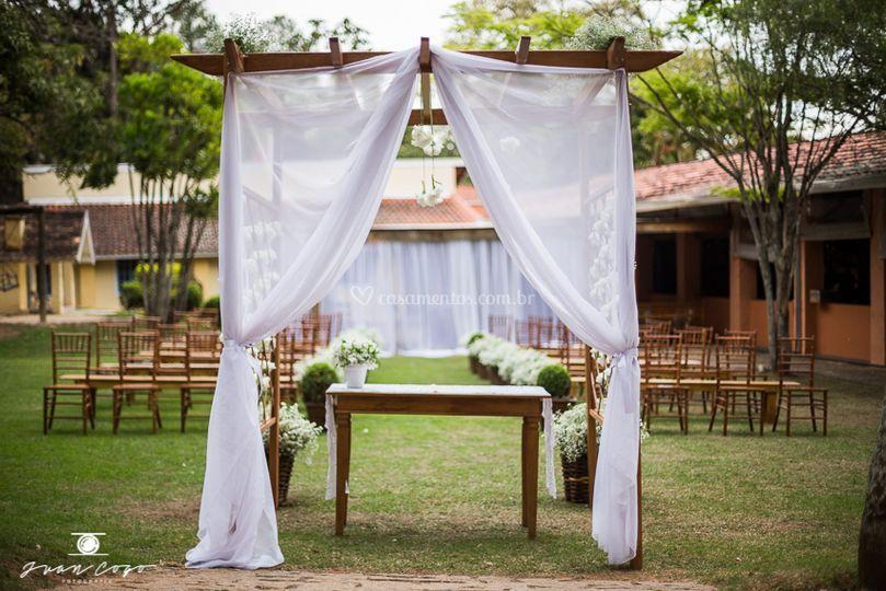Gazebo para altar do noivos