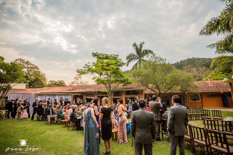 Área externa para cerimônia