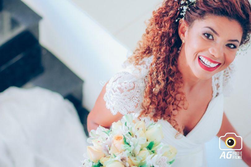 Noiva se dirigindo à cerimônia