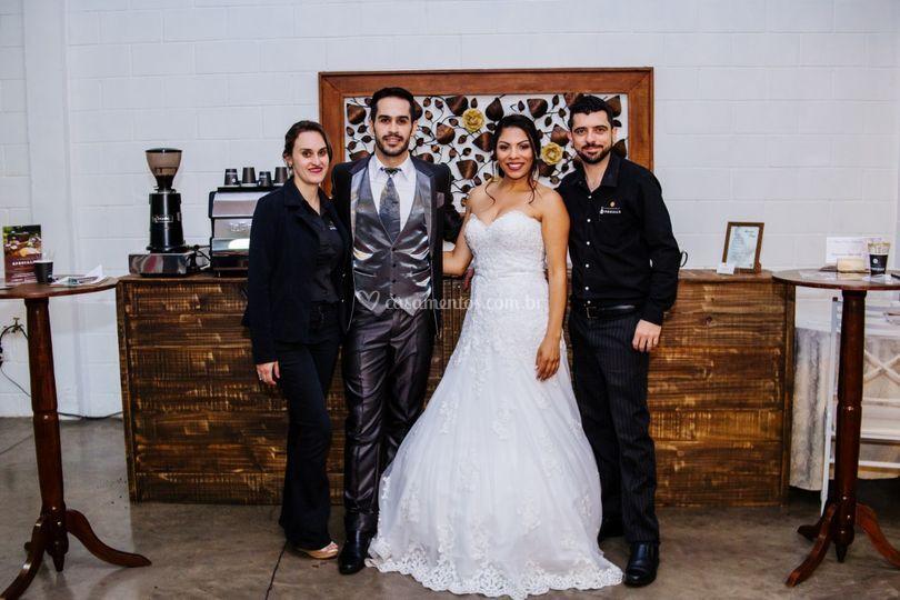 Noivos cafeinados