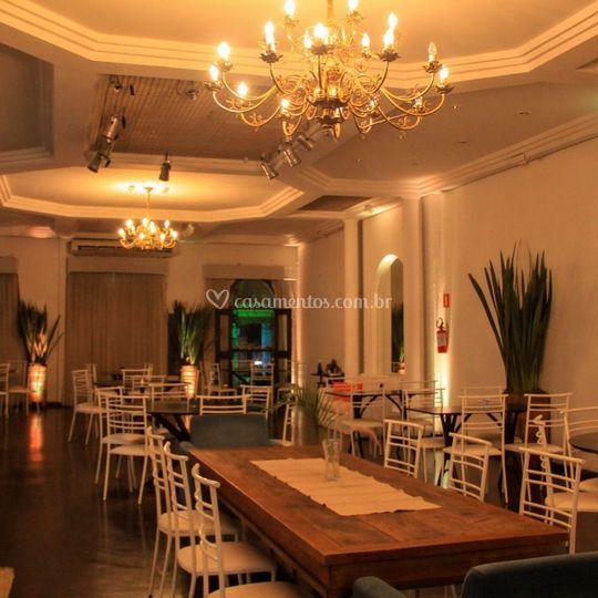 Parte interior do Restaurante