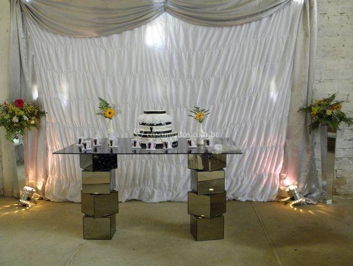 Mesa de doces decoradas
