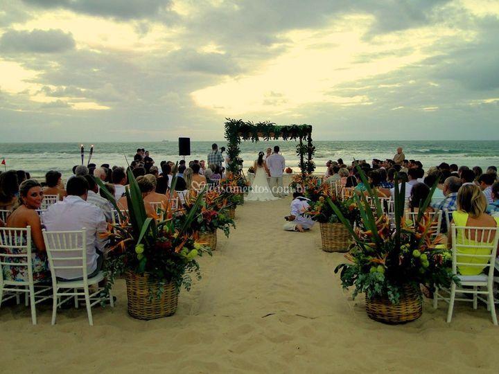 Opção de cerimônia na areia