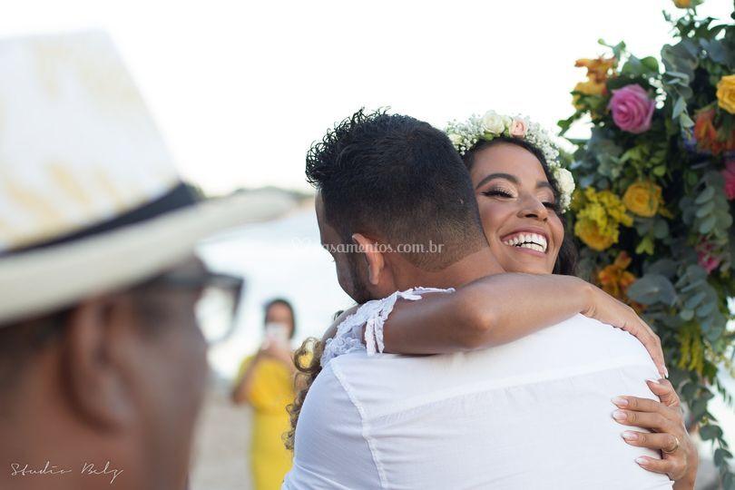 Abraço casal