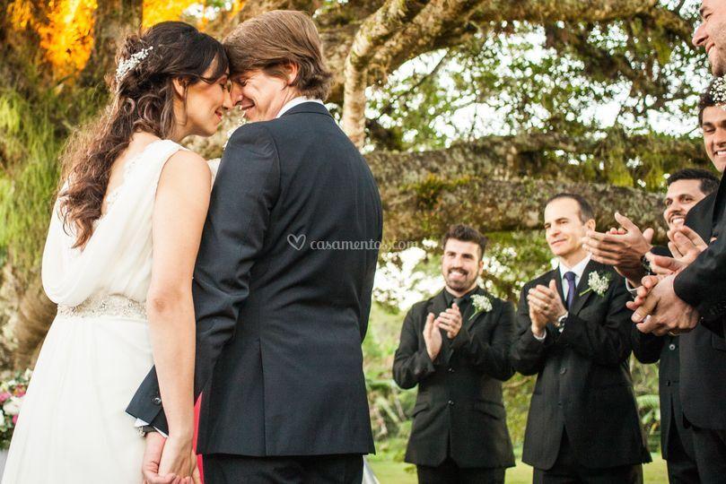 Padrinhos e noivos