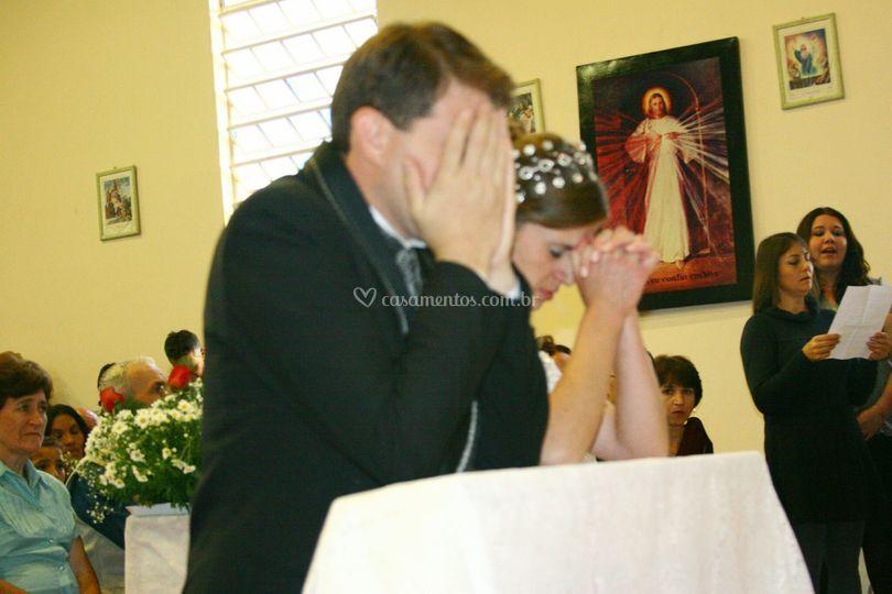 Eucaristia com Jesus fundo