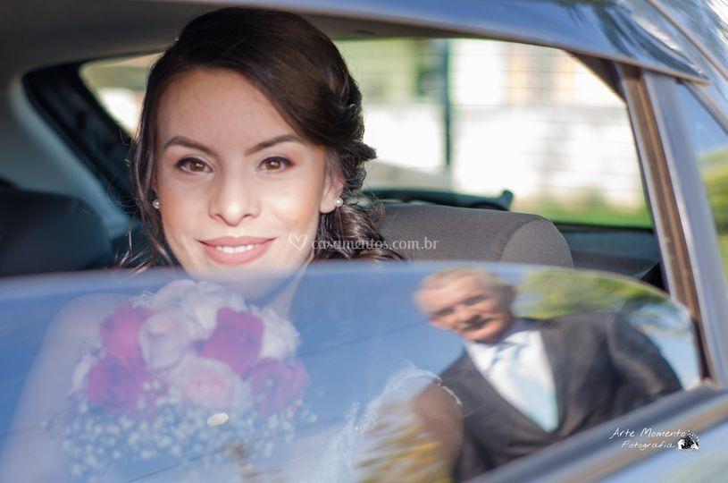 Pai da noiva no vidro