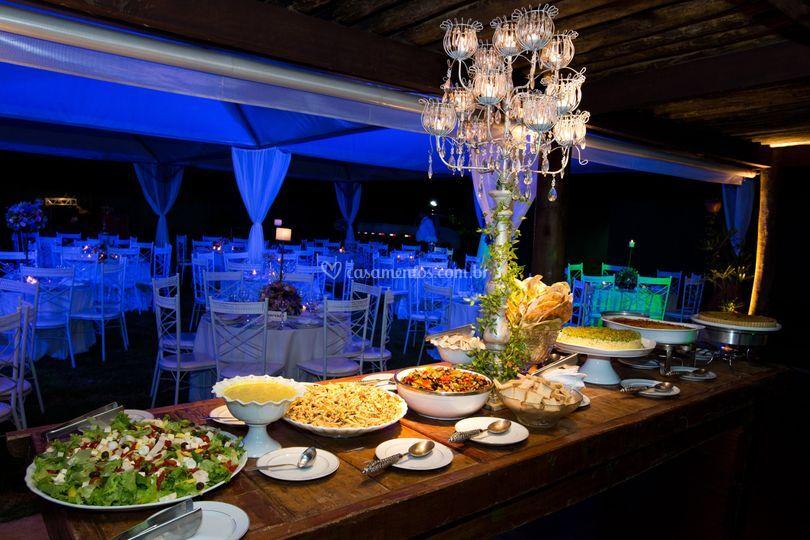 Buffet no Lounge