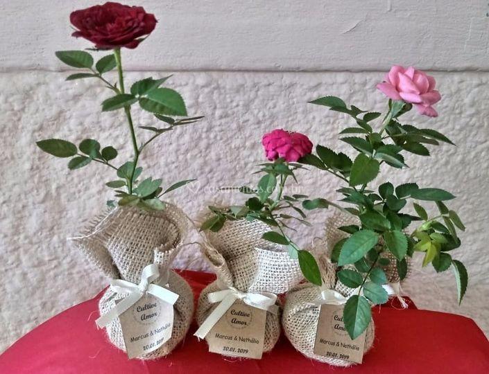 Lembrancinhas roseiras