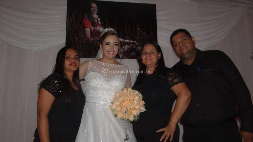 Com noiva Rita de Cássia