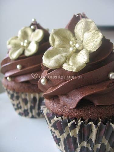 Cupcake ganache de chocolate