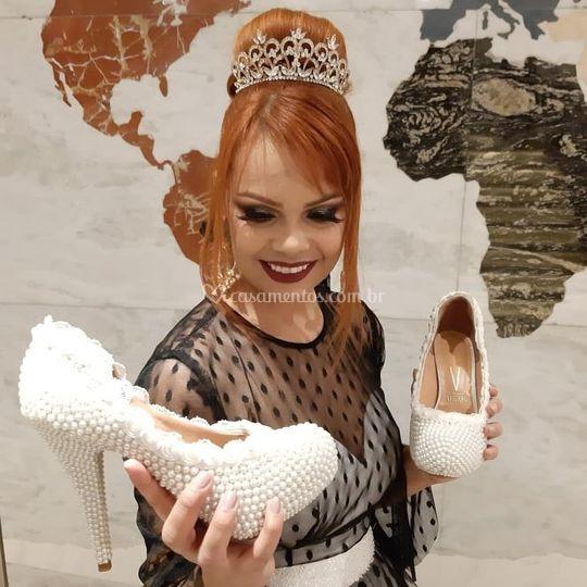 Sapato em pérolas