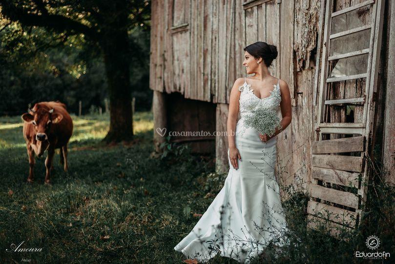 Vestidos sereia bordado a mão