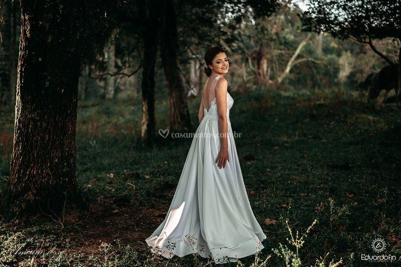 Vestido delicado e romântico