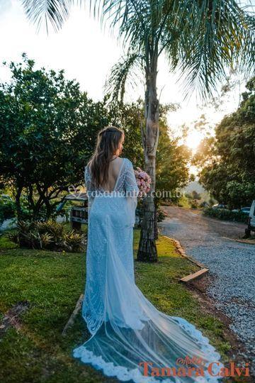 Noiva Boho, casamento no Campo