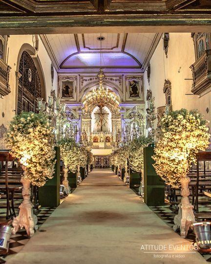 Belíssima igreja e decoração