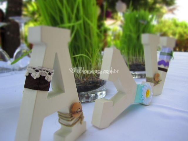 Letras De Decoracion Para Bodas ~ Decorar o casamento com letras