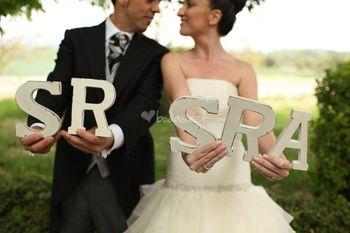 Decorar o casamento com letras