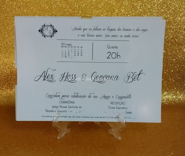 Convite 14x20cm