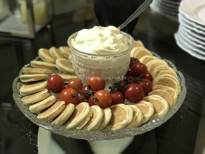 Blinis com Sour Cream
