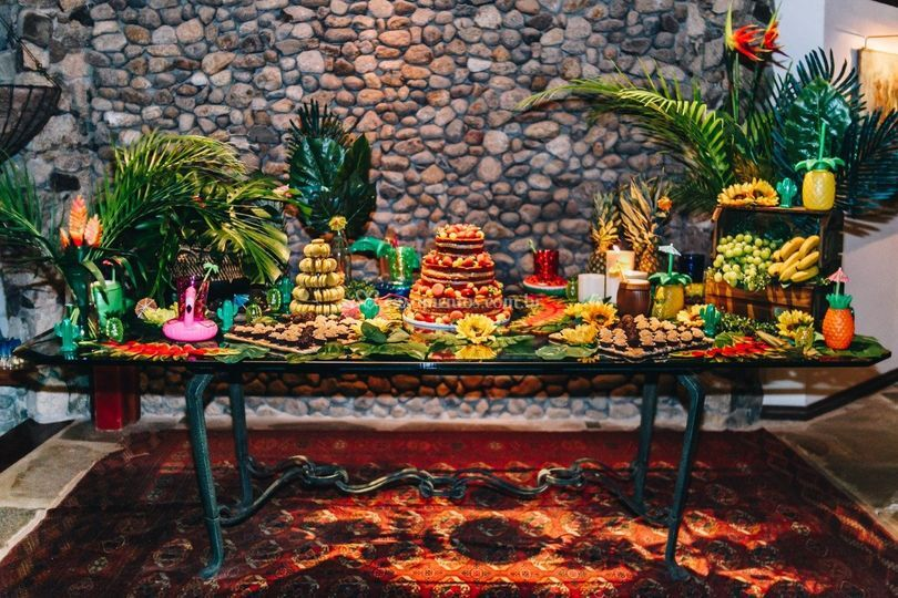 Mesa de doçura havaiana