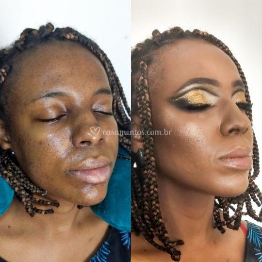 Antes e Depois Maquiagem Conce