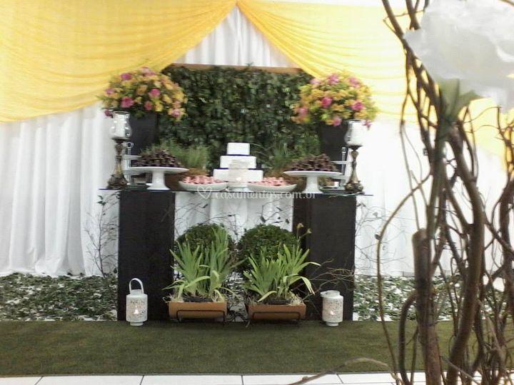 decoracao casamento presidente prudente:Mesa do bolo de Marcílo's Buffet e Decoração
