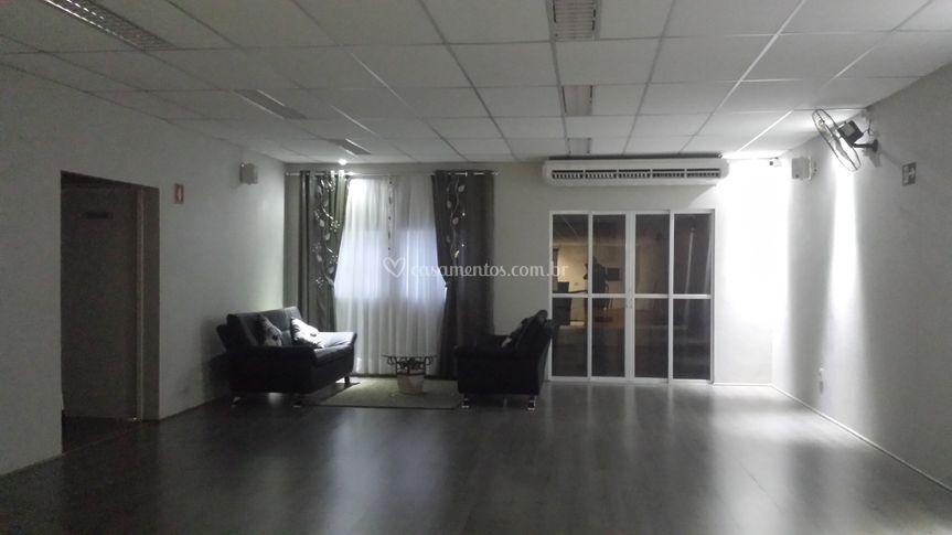 Lounge com iluminação em led