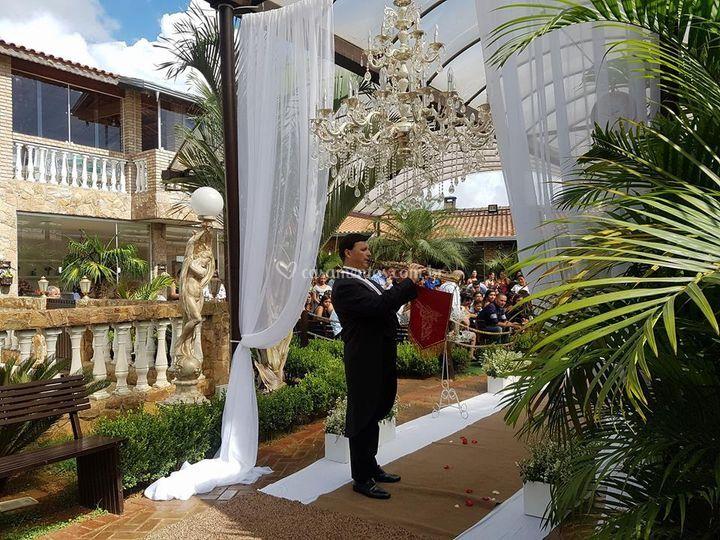 Clarim na entrada da Noiva