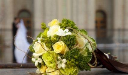 Buquê de noiva colorido