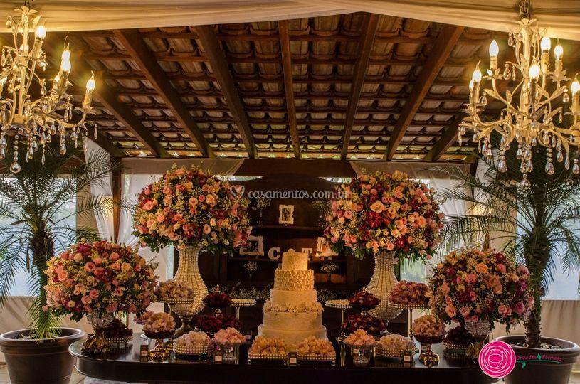 Mesa de bolo tradicional