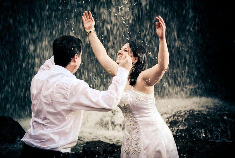 Alegria em forma de chuva