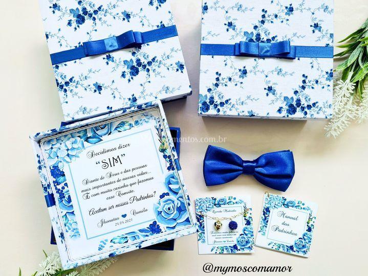 Convite azul