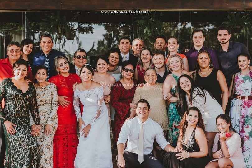 Casamento família