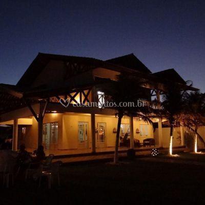 A casa Iluminação Noturna