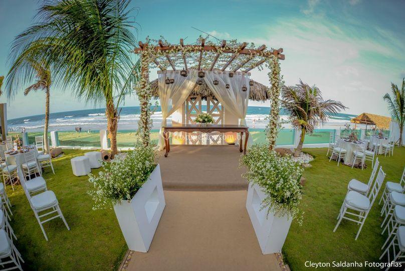 Decoração Beach Wedding