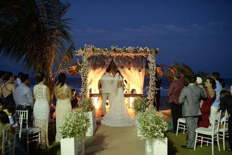 Decoração de Casamento na Prai