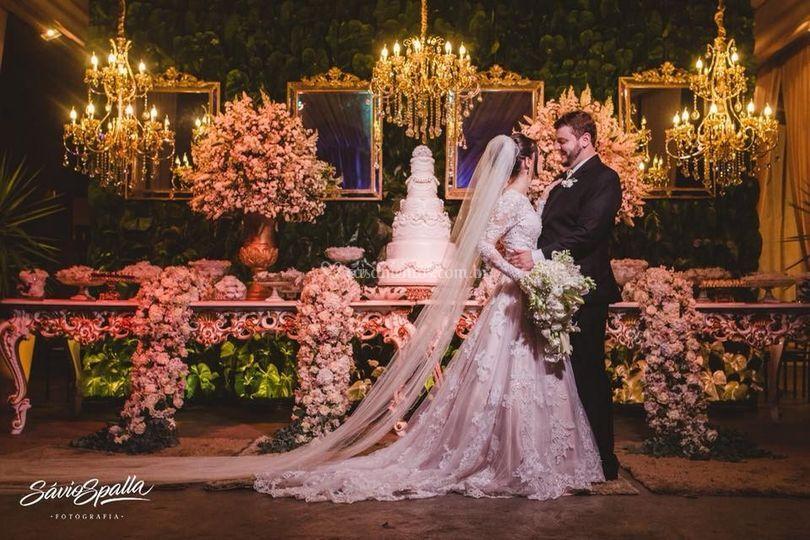 Dhenis Monteiro em seu casamen