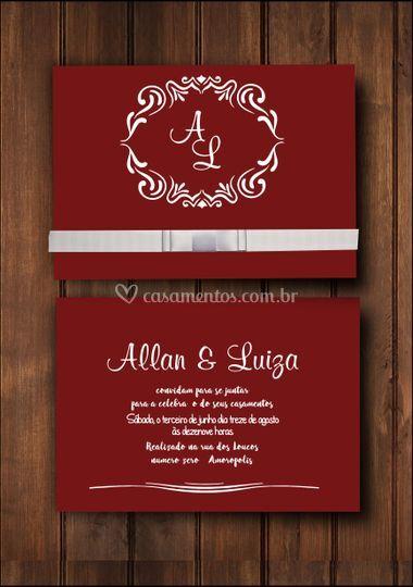Convite com monograma