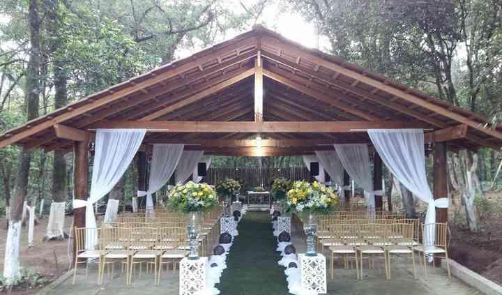 Gazebo preparado para Casament