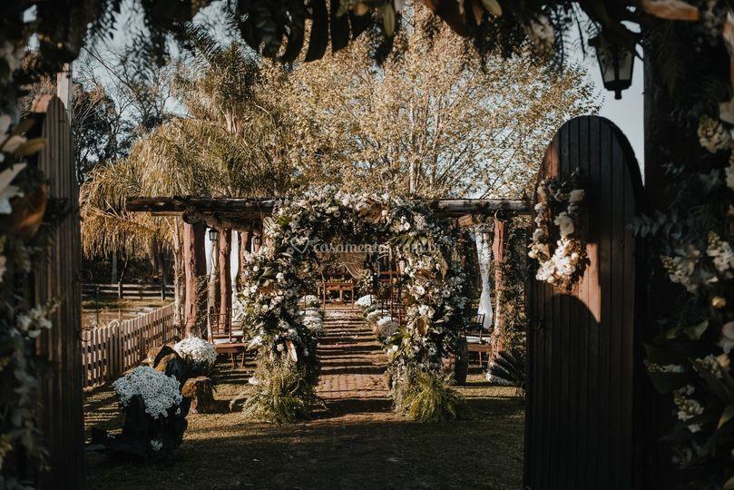 Porta de entrada para casamento