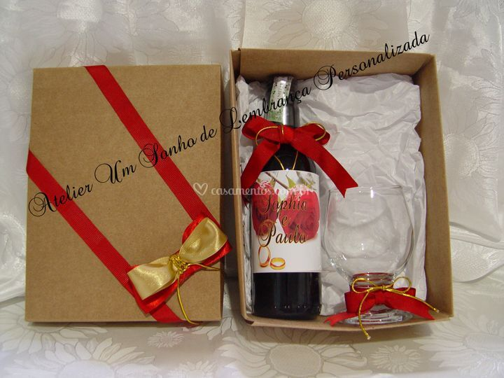 Kit  3 vinho kraft  com taça