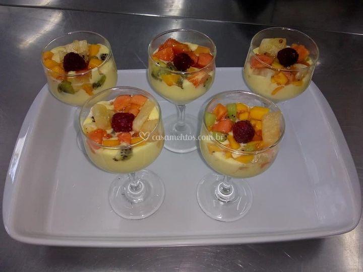 Sobremesa: Zabaione de frutas