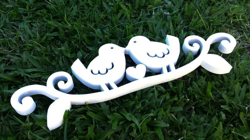 Love birds topo de bolo
