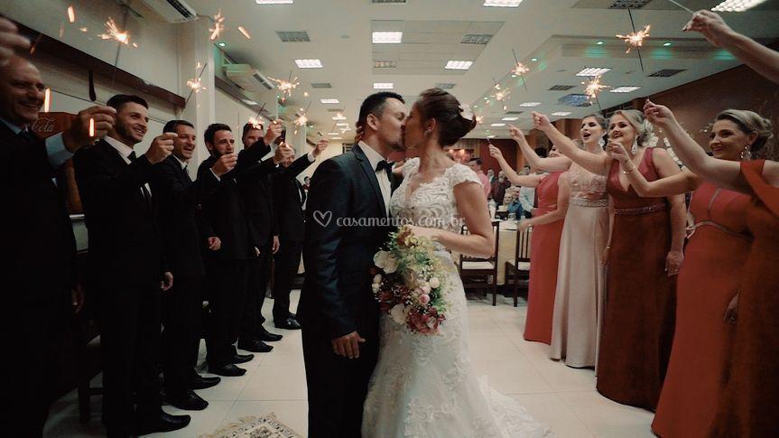 Saída dos recém casados