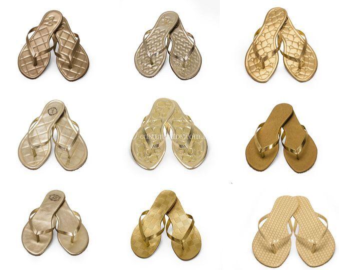 Alguns modelos dourados