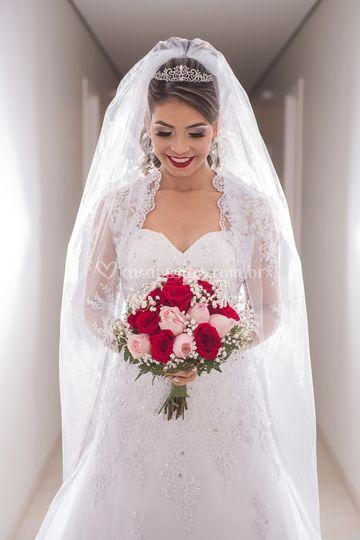 Noiva deslumbrante.